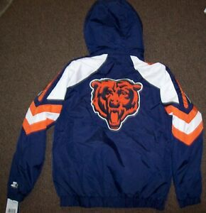 CHICAGO BEARS STARTER PRO LINE Hooded Winter Jacket  S, M, XL 2X BLUE