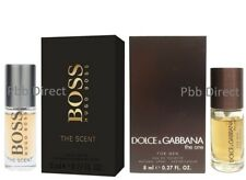 HUGO BOSS THE SCENT & DOLCE & GABBANA THE ONE FOR MEN 2 x 8ML EDT SPRAY DUO SET
