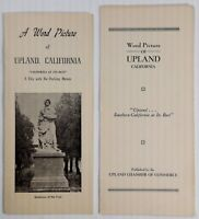 Vintage 1951 Upland California City With No Parking Meters 2 Brochures Statistic