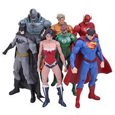 DC UNIVERSE - ENSEMBLE 7 FIGURINES / SUPER HÉROS / 7 Figurines Ensemble 18cm