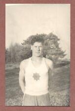 "Athlete,  soldier, Household cavalry, crested Vest , ""Septem Juncta Uno""   RK627"