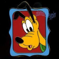 Disney Pin *Peeking* Mickey & Friends Starter Set - Pluto in Blue Frame (Only)!