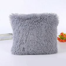 Throw Home Decoration Fur Fluffy Sofa Pillow Soft Plush Luxury Cushion Cover UK