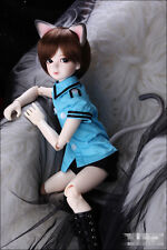 Bjd 1/4 Boy Doll KDF Kitty Ears And Tail Set FACE MAKE UP+FREE EYES Toy Gift