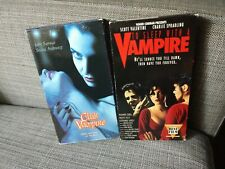 New Horizons VHS Horror Lot Gore OOP : To Sleep with a Vampire + Club Vampire