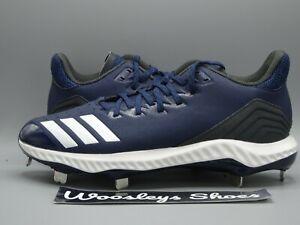 New Adidas Icon Bounce Baseball Cleats Size 9 Navy White