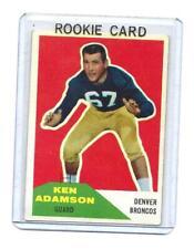 KEN ADAMSON 1960 FLEER VINTAGE FOOTBALL ROOKIE CARD # 33