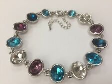 Florence Scovel Oval Crystal Bracelet silver bangle sparkling gem gift