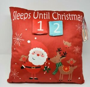 Countdown to Christmas Advent Cushion with interchangeable numbers NEW