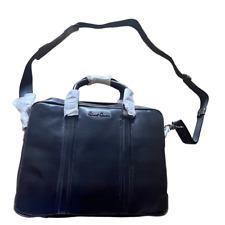 Robert Graham Geniune black leather briefcase satchel bag