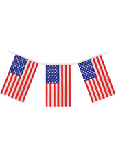 Giant 12 Ft Long 11 Flags Usa American Stars & Stripes Flag Bunting Decoration
