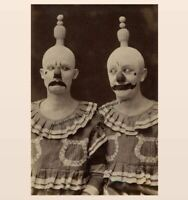 Vintage Creepy Circus Clowns Scary PHOTO Happy Sad Freak Creepy Weird Odd Act