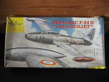 MAQUETTE 1/72  HELLER BOITE JAUNE REPUBLIC F 84 G THUNDERJET   MILITAIRE