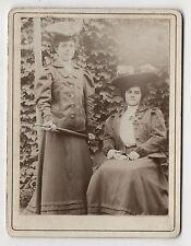 PHOTO - Femme Coiffure Chapeau Parapluie Ombrelle Mode - Belle époque Vers 1900