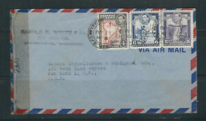 BRITISH GUIANA 1940s WWII CENSOR cover GEORGETOWN to New York