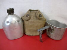 WWII US Army M1910 Dismounted Canteen, Cup & Early Khaki Cover Dated 1942 & 1944