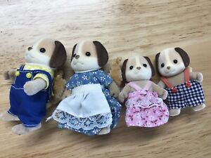 Sylvanian Families Beagle Dog Family - 4 Vintage Calico Critters Epoch Preowned