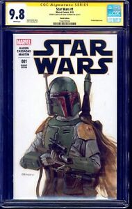 Star Wars #1 BLANK CGC SS 9.8 signed PAINTED BOBA FETT SKETCH Dave Dorman NM/MT