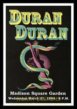 "Framed Vintage Style Rock n Roll Poster ""DURAN DURAN, M.S.G. 1984""; 12x18"