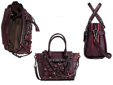NWT Authentic Coach Willow Floral Swagger 21 in Glovetanned Leather 55523 $495
