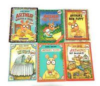 Arthur Adventures Lot 6 Marc Brown Aardvark Children's Picture Book Series