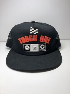 Vintage Delco Tough One Adjustable SnapBack Trucker Hat GM AC Made In USA