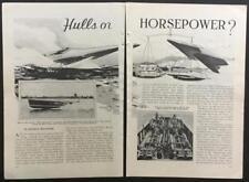 """Miss America X 1933 """"Hulls or Horsepower"""" Speedboat pictorial article Gar Wood"""