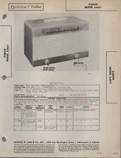 1946 GAROD 6 AU-1 6AU-1 RADIO SERVICE MANUAL PHOTOFACT SCHEMATIC DIAGRAM REPAIR