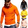 Herren Hoodie Kapuzenpullover Pullover Sweatshirt Schwarz/Orange/Gelb/Beige NEU