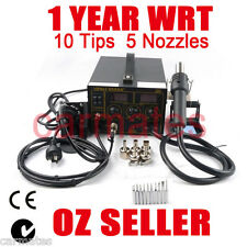 2 in1 HOT AIR GUN SOLDERING REWORK SMD STATION Fume Extractor YH968DA+ 1YEAR WRT
