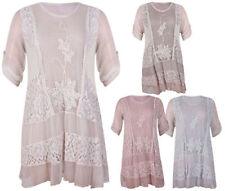 Maglie e camicie da donna maniche a 3/4 floreale in seta