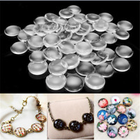 10/20/50pcs Transparent Round Clear Glass Cabochon Dome Glass Cover 8mm-35mm