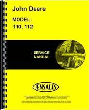 John Deere 110 112 Lawn & Garden Tractor Service Manual (Jd-S-Sm2088)
