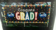 Grad Banner complimenti al di fuori Banner 4 Foot Long con 3 Poli (Prato Banner)