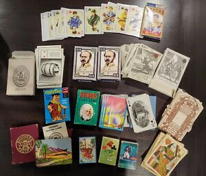 Lot 13 Decks of Various Antique & Vintage Playing Cards Games