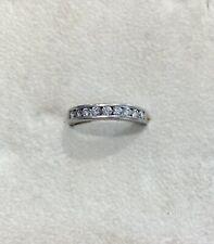 Platinum Half Eternity Diamond Ring