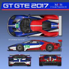 Model Factory Hiro 1/12 Ford GT GTE 2017 LM 24h Race Team UK  & Team USA