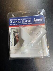 Annin Flagmakers Flagpole Bracket 2-Position Reinforced Nylon Brand New