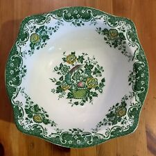 Beautiful Johnson Brothers Bird Of Paradise Bowl Green Vintage Ironstone