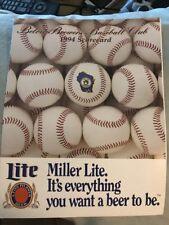 Beloit Brewers Official 1994 Scorecard Milwaukee