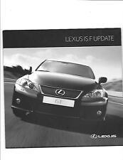 LEXUS IS F UPDATE SALES  BROCHURE FEBRUARY 2010