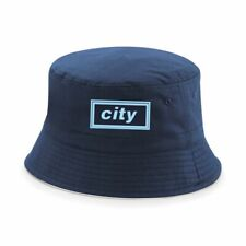 Manchester City Retro Bucket Hat Oasis Style Liam Gallagher CTID MCFC Safari Hat