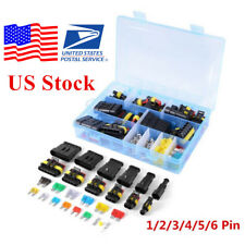 1/2/3/4/5/6 Pin Way+Fuses Sealed Electrical Connector Plug Terminal (US STock)