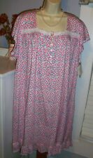NWT 2X Eileen West Nightgown 100% Cotton Knit NEW Gown Spring Flowers PRETTY
