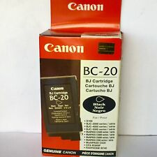 New Genuine Canon BC-20 Black Ink Cartridge, Multipass C2500, BJC-4300, BOX