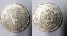 1932 Mexico Large Silver 1 peso Cap and Rays-Eagle/Snake-Nice #2