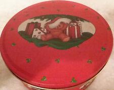 Teddy Bear Santa Tin Music Box - Let Me Be Your Teddy Bear