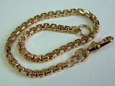 Solido 9CT Oro Giallo Sfaccettato Quadrato Belcher Link braccialetto - 7.75 pollici