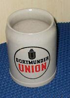 "0,5 L Steingut Krug / Seidel / Beer Tankard ""Dortmunder Union"""