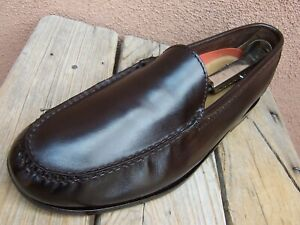 COLE HAAN Mens Casual Dress Shoes Walnut Brown Slip On Moccasin Loafer Size 8.5M
